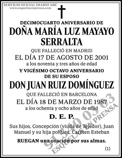 María Luz Mayayo Serralta